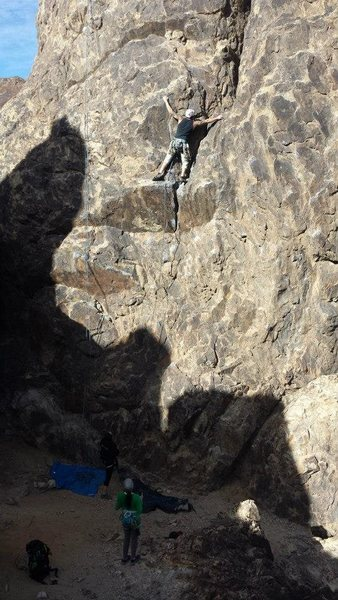 Rock Climbing Photo: myself just past the crux