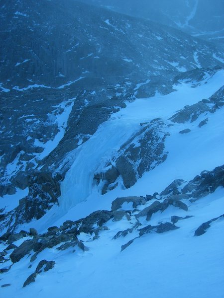 Closer shot of the falls, 01/11/14.