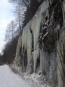 Rock Climbing Photo: Looking at some of the ice routes while approachin...
