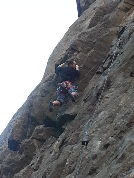 Rock Climbing Photo: Having fun (a few feet left of the route).