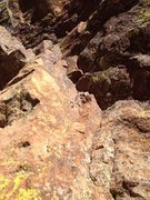 Rock Climbing Photo: Replaced first bolt on P2. Plan to get the second ...