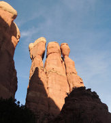 Rock Climbing Photo: The backside of the Mace in evening light