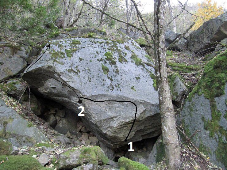 Rock Climbing Photo: 1. Piledriver 2. Fracture