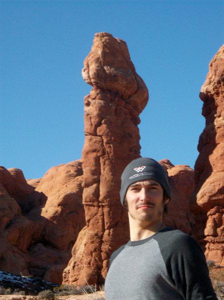 Rock Climbing Photo: My partner Graham.  He's a dick.