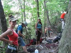Rock Climbing Photo: At Seneca w/the crew
