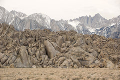 Rock Climbing Photo: The Tall Wall (lower left corner) with Mt. Whitney...