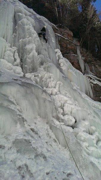 WI3+ in Bear Creek Gorge, January, 2014.