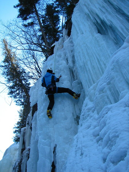 Steep lines in Bear Creek Gorge, January, 2014.