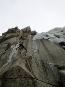 Rock Climbing Photo: Leading the first pitch of Scrappy's Child and tak...