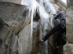 Rock Climbing Photo: First pitch of Scrappy's Child leading through the...