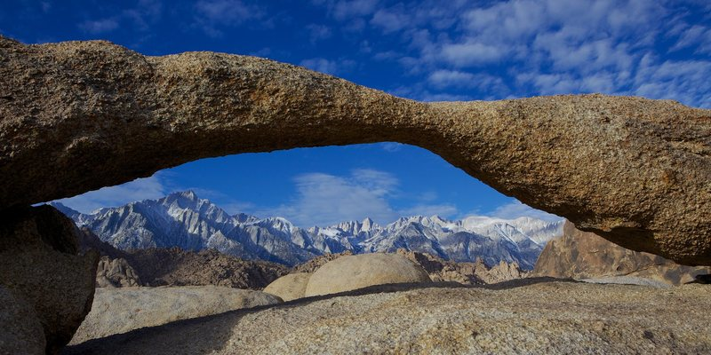 Rock Climbing Photo: Mt Whitney from the Alabama Hills.