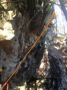 Rock Climbing Photo: side view of the route