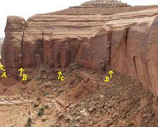 Rock Climbing Photo: A) Kripling Groove 320'. B)Gateway to the Lost Wor...