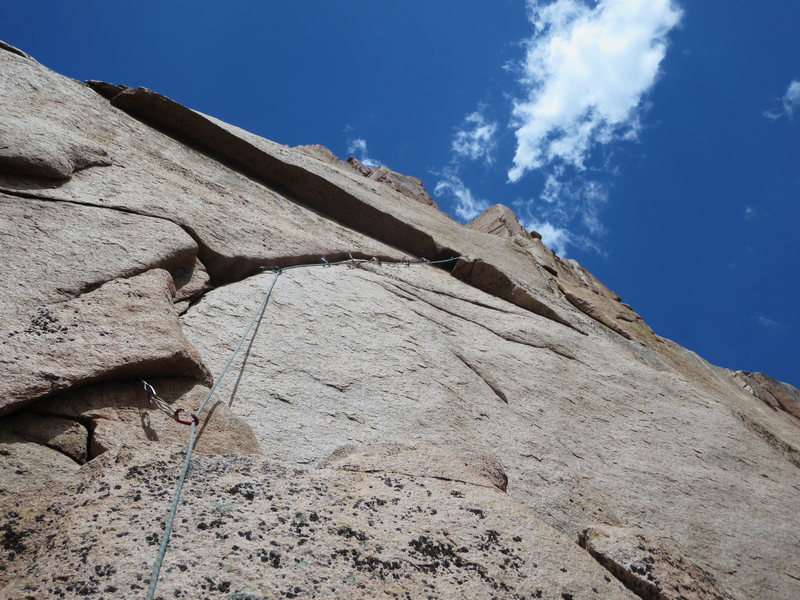 Rock Climbing Photo: Another look at the crux.