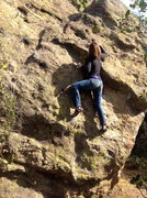 Rock Climbing Photo: Lauren on the V1, found on the front side of the M...