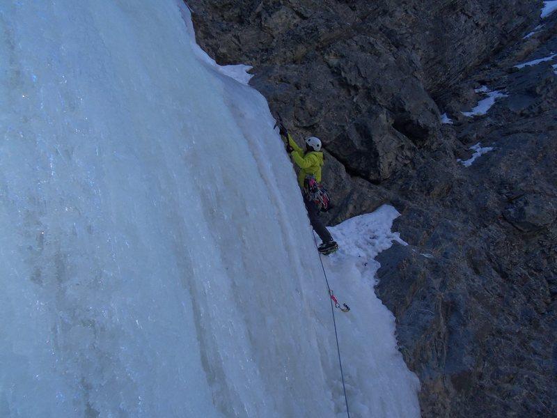 Rock Climbing Photo: Squash Head - Starting 2nd pitch