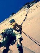 "Rock Climbing Photo: Jonathan ""Badger"" Mitchell cruising up t..."