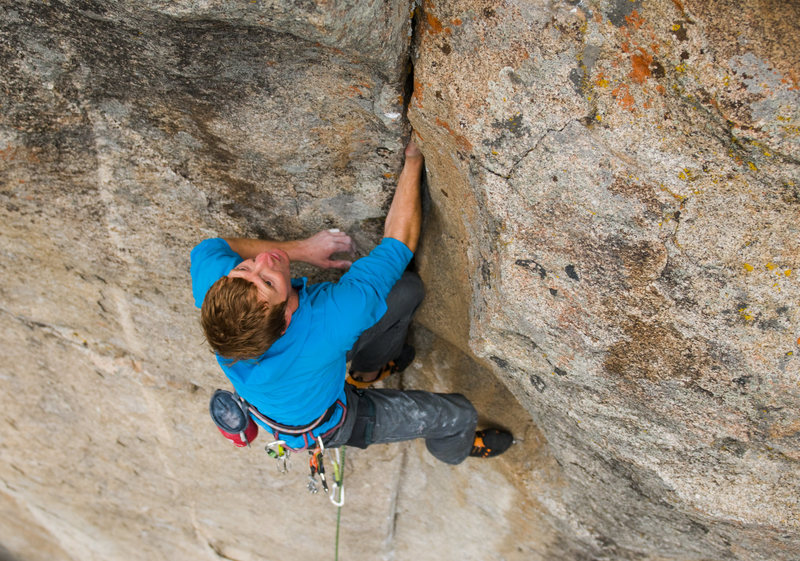 Rock Climbing Photo: Cody Scarpella climbing on Straight out of the Ghe...