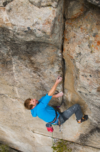 Rock Climbing Photo: Cody Scarpella enjoying the good edges on Straight...