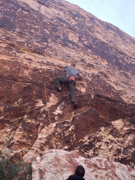 Rock Climbing Photo: On site 5.8 in Red Rock NV
