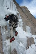 Rock Climbing Photo: Devan Johnson starting off things from Lamb's Slid...