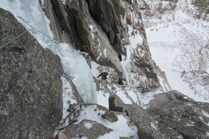 Rock Climbing Photo: More of the crux pitch.  Alexander's Chimney, Long...