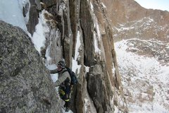 Rock Climbing Photo: Approaching the belay.  Some great climbing up int...