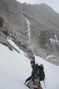 Rock Climbing Photo: Snow moving in more as we head begin to head out o...
