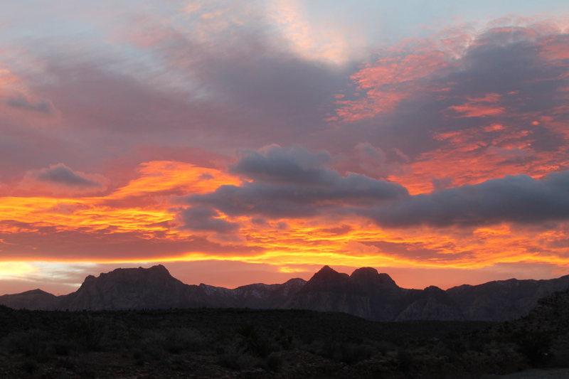 Sunset over Red Rock - December 3, 2013.  Taken from Calico Basin after a nice after work trail run