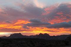 Rock Climbing Photo: Sunset over Red Rock - December 3, 2013.  Taken fr...