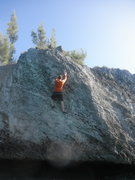 Rock Climbing Photo: Midway through Pillaging Yer Bootie.