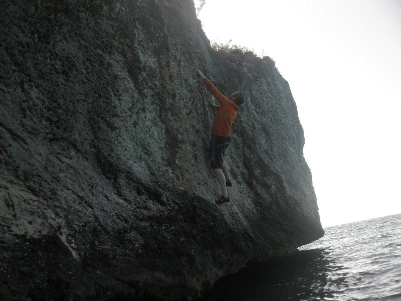 Rock Climbing Photo: Working through Liking Crusty Buns.