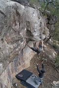 Rock Climbing Photo: JJ Schlick & Matt Grecco with an attentive spot.