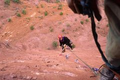 Rock Climbing Photo: me, cleaning pitch 4