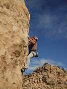 Rock Climbing Photo: Moves up to the flake.