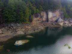 Rock Climbing Photo: Mutiny Arete from afar