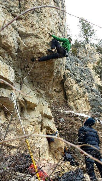 Rock Climbing Photo: Donkey Punch 12c
