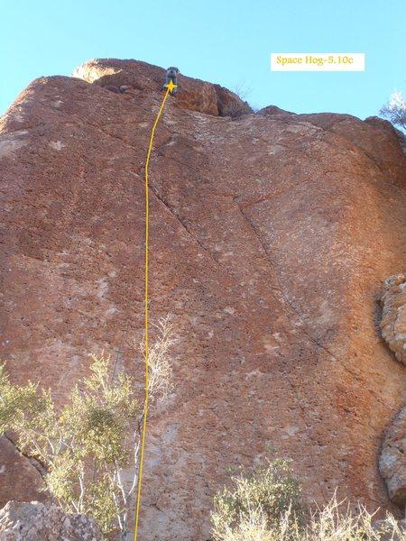Rock Climbing Photo: Space Hog (January 2014)
