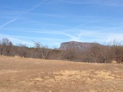 Rock Climbing Photo: Shortoff Mountain seen from Old NC 105.