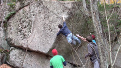 Rock Climbing Photo: Jay Conway sticks The Balance Dyno