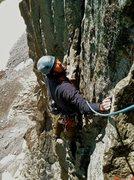 Rock Climbing Photo: top of pitch ten, Dinner Plates!