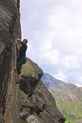 Rock Climbing Photo: Ben in the crux of Epidemic.