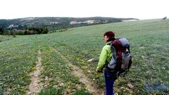 Rock Climbing Photo: walking in the white irises of wild wyoming  summe...