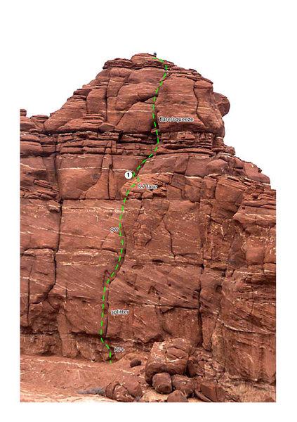 Rock Climbing Photo: Topo for Putterman Drops the Soap