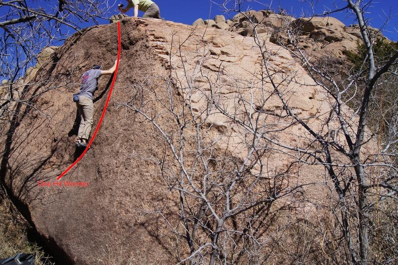 Rock Climbing Photo: Matt on the slab of One Hit Wonder.