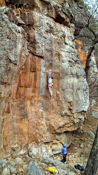 Rock Climbing Photo: Horseshoe and Handgrenades