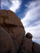 Rock Climbing Photo: Bob Gaines leading Cleopatra  photo by james barne...
