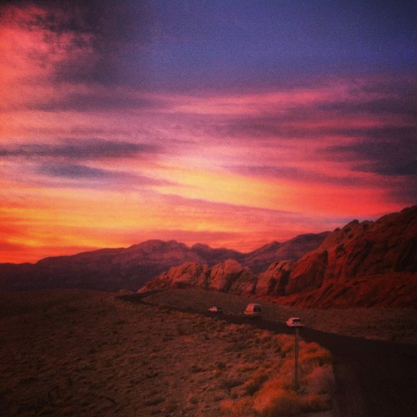 Red Rocks sunset, 2nd pullout 1.20.14