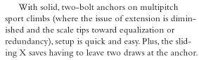 climbing anchors 3rd ed sliding X