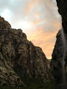 Rock Climbing Photo: Waterfall after thunderstorm, Icebox Canyon 7/28/1...